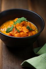 pumpkin and lentil soup