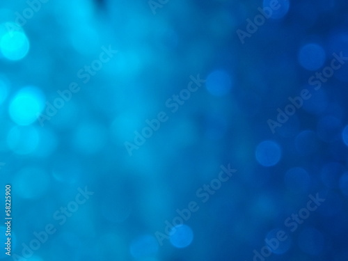 canvas print picture Bokeh Blue Background
