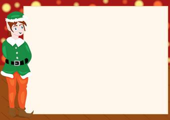 Bigliettino natalizio elfo