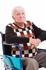 disabled senior man on wheel chair