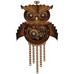 Steampunk Owl Style Mechanical Toy-Gufo Meccanico Antico