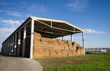 Modern storage of straw bales