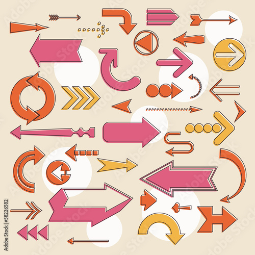 Background with arrows. Vector illustration