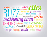 nuage de mots : buzz et marketing viral