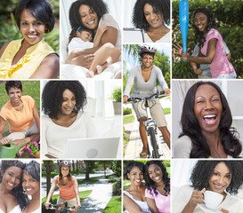 Female African American Women Healthy Lifestyle