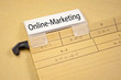 Ordner mit Online-Marketing
