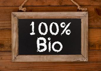 100% Bio Aushang