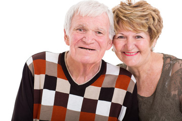elderly couple close up
