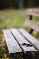 Lost phone on the bench