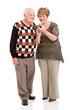 senior couple using smart phone