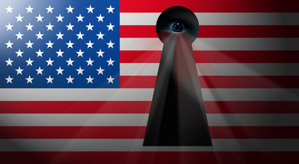 NWO usa flag *** eye-spy