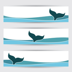 Whale banners