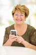 senior woman using smart phone
