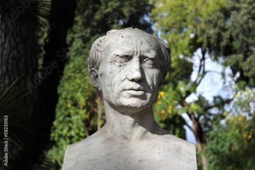 Head Statue, White Marble