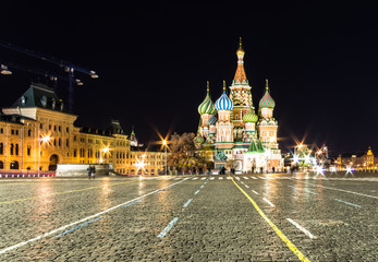 st basil cathedral ,red square,night