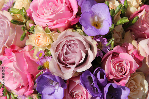 Foto op Canvas Lilac pink and purple wedding bouquet