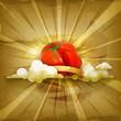 Tomato, old style background