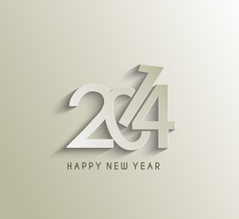 Happy new year 2014 celebration greeting card design.