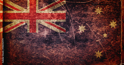 Grunge dirty flag of Australia