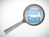 smart goals under magnify search illustration
