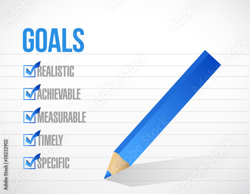 goals check mark list illustration design