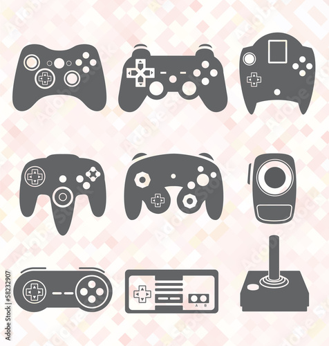 Vector Set: Video Game Controller Silhouettes - 58232907