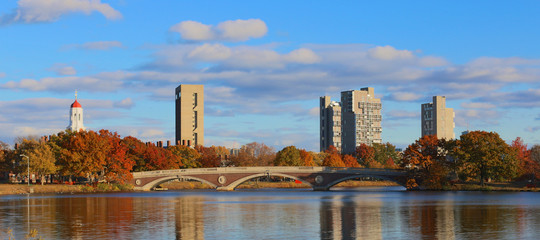 Harvard Towers over the Charles