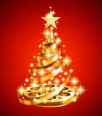 Film strip christmas tree