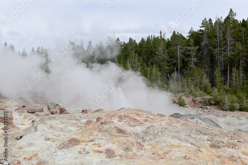 Au Yellowstone National Park