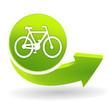 vélo sur symbole vert
