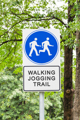 Walking and jogging trail