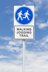 Walking jogging sign