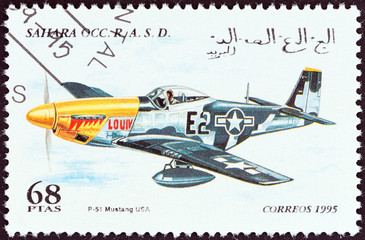 P-51 Mustang aircraft, USA (Western Sahara 1995)