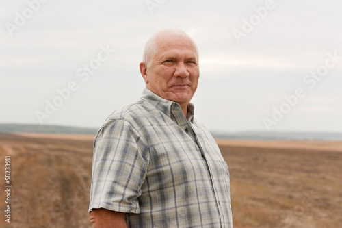 elderly man in  autumn day