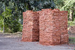 red clay bricks stacks in Amritsar,India