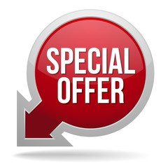Big red special offer button