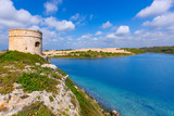 Menorca La Mola watchtower tower Cala Teulera in Mahon poster