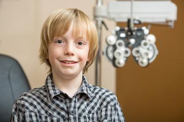 Boy Smiling At Optician