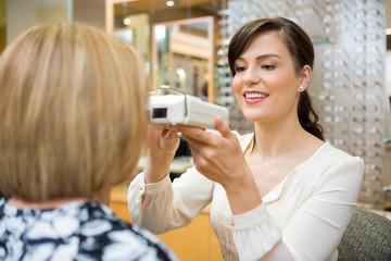 Optometrist Measuring Pupilary Distance