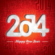 Vector Happy New Year 2014 celebration design.