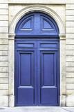 Wood arch entry door in Paris, France