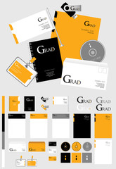 Corporate identity template, vector company style