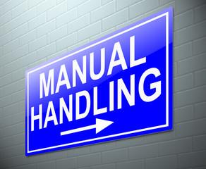 Manual handling concept.