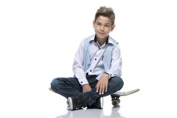 Skater-Boy with Skateboard