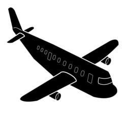 Airplane cartoon Silhouette vector