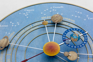 The Clock of the Planets in Pesariis, Italy