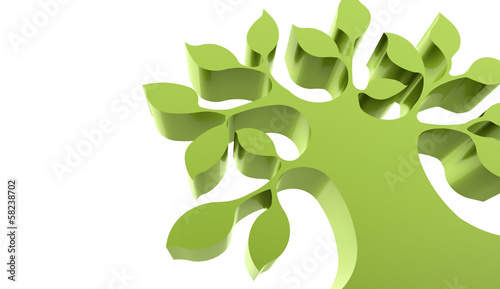 Abstract green tree business concept