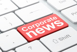 News concept: Corporate News on computer keyboard background