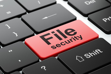Security concept: File Security on computer keyboard background
