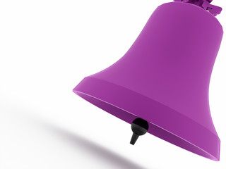 Purple big bell rendered on white